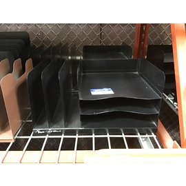 Black metal 3 tier/3 slot desktop file organizer (4/22/2021)