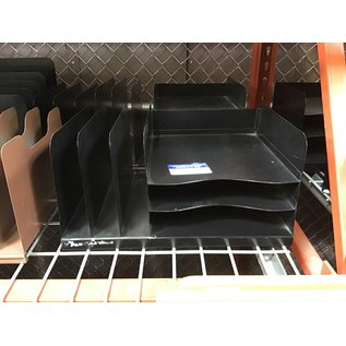 Black metal 3 tier/3 slot desktop file organizer (4/22/2021)