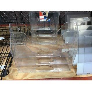 Clear plastic 3 tier magazine holder (4/22/2021)