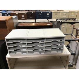 "14x41 1/2x10 1/2"" Lt gray plastic paper sorter (4/22/2021)"