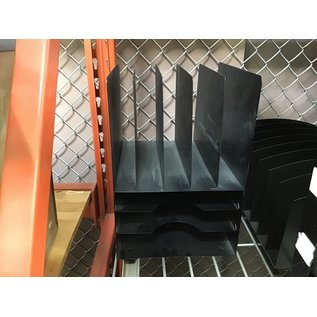 Black metal 5 slot 3 tier file/paper organizer (4/22/2021)