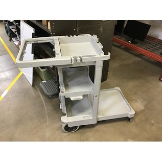 Gray Rubbermaid house keeping cart (4/26/2021)