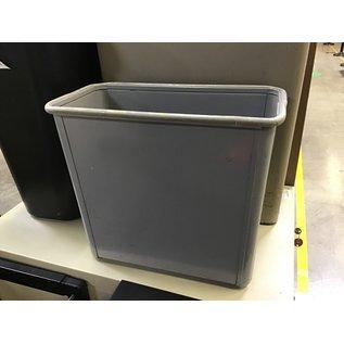 Gray metal trash can (4/26/2021)