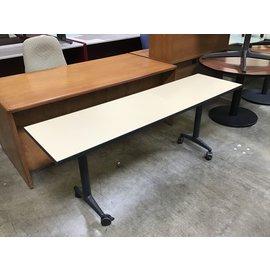 """20x72x28 1/2"""" Beige top work table on castors (4/26/2021)"""