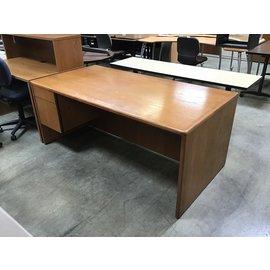 """36x72x30"""" Oak Wood L/Pedestal desk (4/26/2021)"""