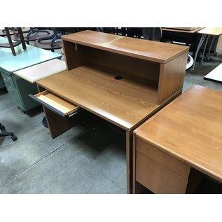 """30x48x44 1/2"""" Wood computer desk w/shelf (4/26/2021)"""
