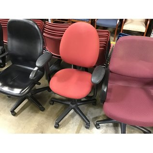 Red Steelcase desk chair - slightly faded (4/26/2021)