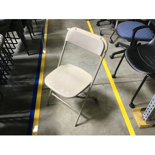 Tan plastic folding chair (4/26/2021)