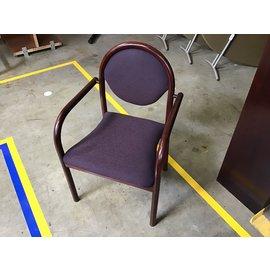 Purple padded wood frame side chair (4/26/2021)