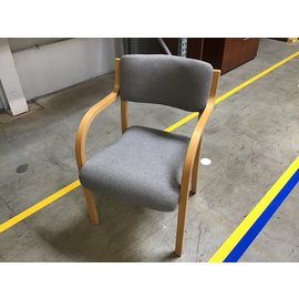Gray padded wood frame side chair (4/26/2021)