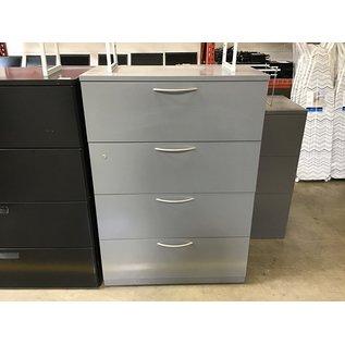 """18 3/4x36x52"""" Gray metal 4 drawer horizontal file cab. (4/26/2021)"""