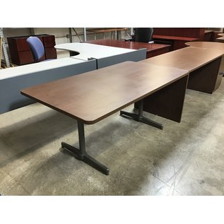 """36x66x28 3/4"""" Brown color wood conference table (5/11/21)"""