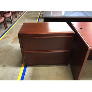 """19x34x28 1/2"""" Cherry wood 2 drawer lateral file (5/11/21)"""