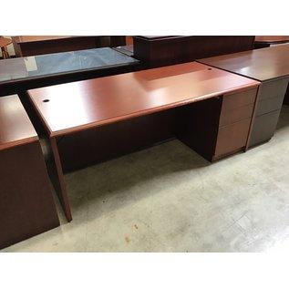 "36x72x29"" Cherry wood R/ped desk (5/11/21)"