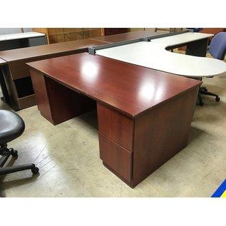 "36x72x29"" Cherry wood dole ped desk (5/11/21)"