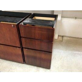 19 3/4x15 1/2x28 1/4 Cherry wood under desk 3dr cab. (5/11/21)