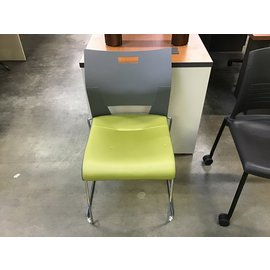 Lime green padded sled base side chair (5/12/21)