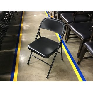 Black metal folding chair (5/12/21)