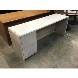 "20x72x29"" Beige/tan credenza-a few chips along the edges (5/12/21)"