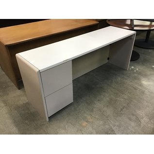 """20x72x29"""" Beige/tan credenza-a few chips along the edges (5/12/21)"""