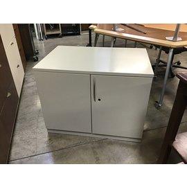 """24x36x27 3/4"""" Beige 2 door metal storage cabinet (5/12/21)"""