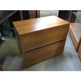"20x36x29 3/4"" Wood 2 drawer horizontal file cabinet (5/12/21)"