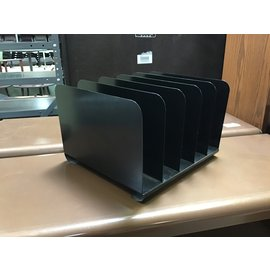 Black metal 5 slot file organizer (512/21)