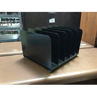 Black metal 5 slot file organizer (512/21)