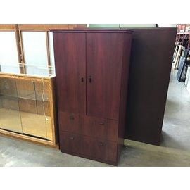"""24x36x69 1/4"""" Cherry 2 door/2 drawer cabinet (5/12/21)"""