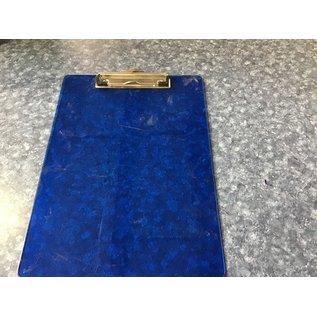 Blue plastic clipboard 8 1/2x11. (5/13/21)