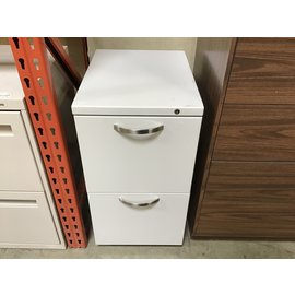 "14 1/2x19 1/2x27 1/2"" Lt gray 2 drawer file cabinet (5/13/21)"