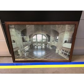 """26 3/4x38 3/4"""" Framed print of Union Station South Bend - framed scratched/chipped (5/14/21)"""