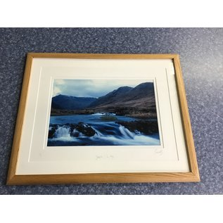 """21 1/4x26"""" Framed print of water/mountain print (5/14/21)"""