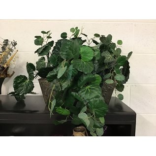 Large artificial plant in tin planter (5/17/21)