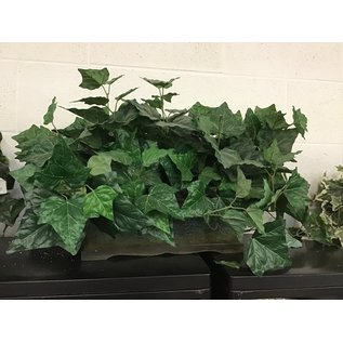 Large artificial plant in wood planter (5/17/21)