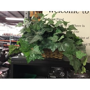 Large artificial plant in wicker planter  (5/17/21)