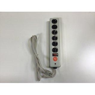 Lt gray 6 outlet metal power strip (5/17/21)