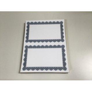 8 1/2x11 Decorative border paper for picture frame-100 pcs  (5/18/2021)