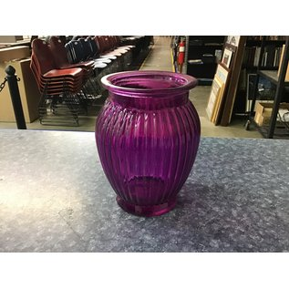 """7 1/4"""" Large Lt purple glass vase (5/18/21)"""
