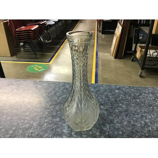 "9"" Medium long stem glass vase (5/18/21)"