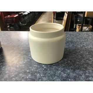 "4"" white ceramic planter (5/18/21)"