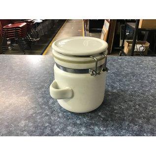 """5 """" White ceramic canister (5/18/21)"""