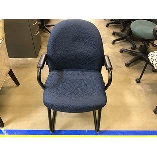 Blue pattern side chair (5/19/21)