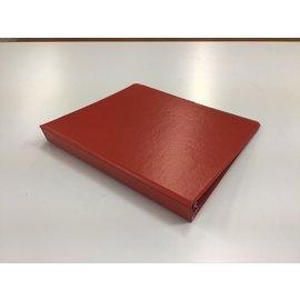 """1 1/2"""" Red 3 ring binder (5/20/21)"""