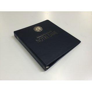"""1 1/2"""" Blue Notre Dame 3 ring binder (5/20/21)"""