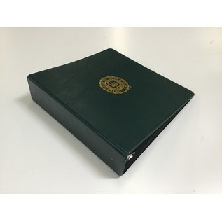 """3"""" Dk Green Notre Dame 3 ring binder 5/20/21)"""