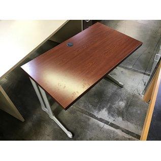 "24x42x28 1/2"" Cherry top metal legs work table (5/20/21)"
