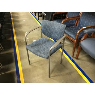 Blue pattern padded stacking chair (5/25/21)