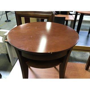 """21x21x24"""" Round wood end table w/shelf (5/25/21)"""