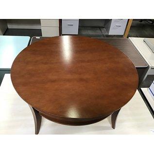 "35 1/2x25 1/2x17"" Round wood coffee table (5/25/21)"